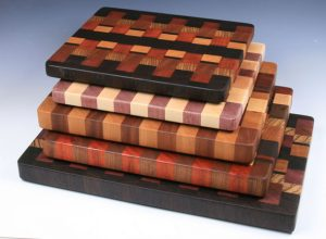 Handmade exotic wood cutting boards