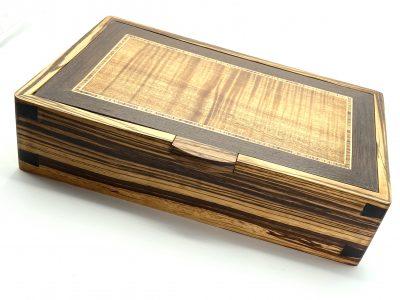 Zebrawood and koa Valet Box